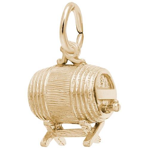 14K Gold Barrel Keg Charm by Rembrandt Charms