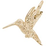 14K Gold Hummingbird Charm by Rembrandt Charms