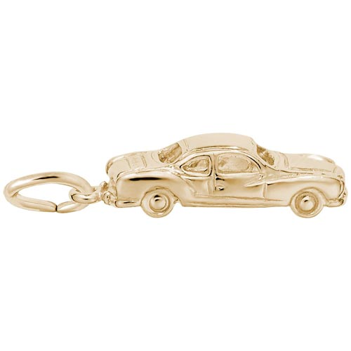14K Gold Classic Business Coupe Charm by Rembrandt Charms