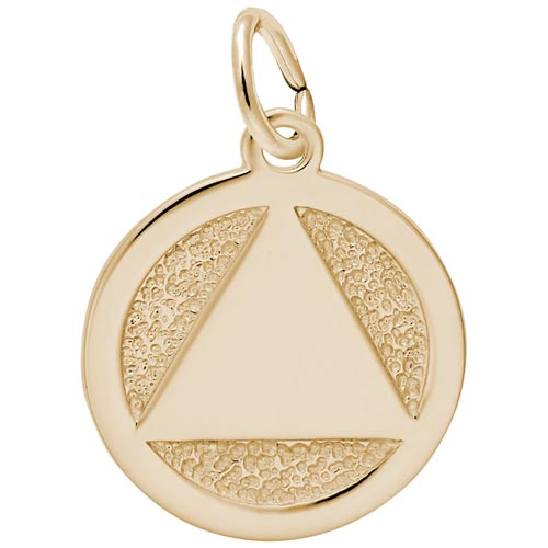 14K Gold AA Alcoholics Anonymous Charm by Rembrandt Charms