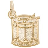 Gold Plated Drum Charm by Rembrandt Charms