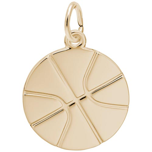 14K Gold Basketball Charm by Rembrandt Charms