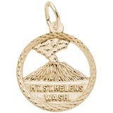 Gold Plated Mt. St. Helens Washington Charm by Rembrandt Charms