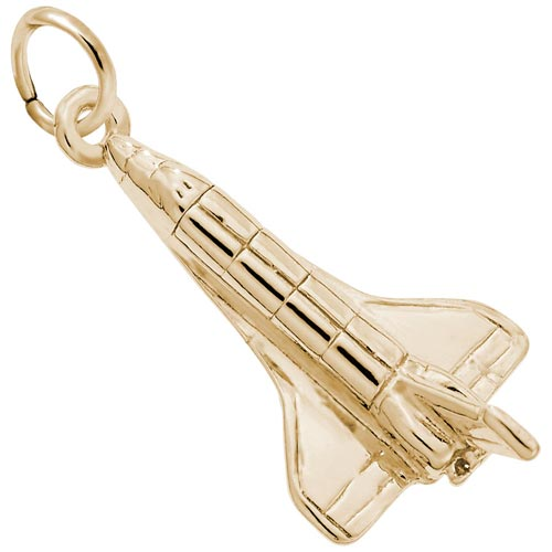 14k Gold Space Shuttle Charm by Rembrandt Charms