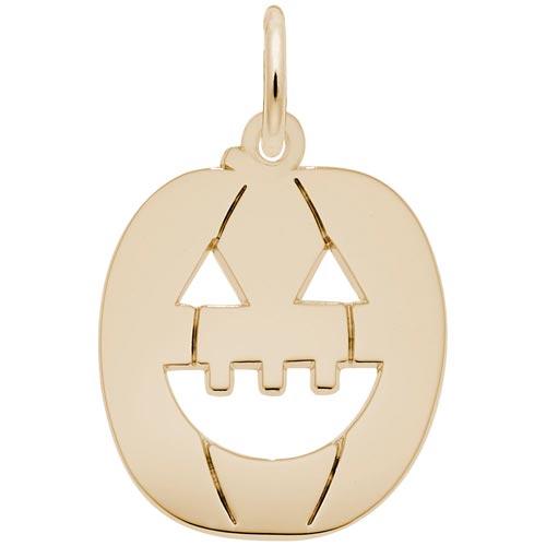 14K Gold Jack O Lantern Charm by Rembrandt Charms