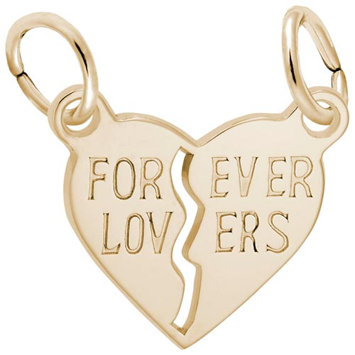 14K Gold Forever Lovers Breaks Apart by Rembrandt Charms
