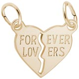 Gold Plated Forever Lovers Breaks Apart by Rembrandt Charms