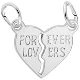 14K White Gold Forever Lovers Breaks Apart by Rembrandt Charms