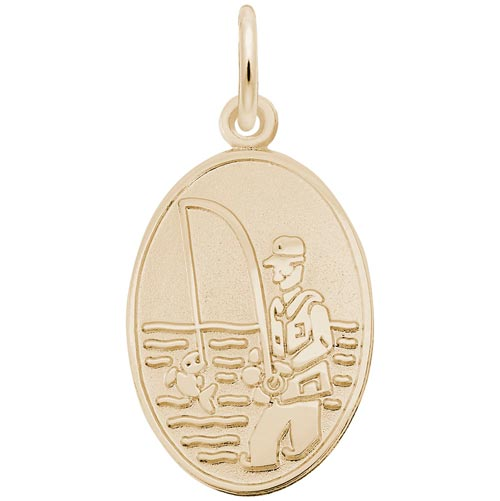 14K Gold Fisherman Charm by Rembrandt Charms