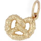 Gold Plated Pretzel Charm by Rembrandt Charms
