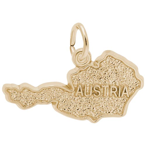 14K Gold Austria Map Charm by Rembrandt Charms