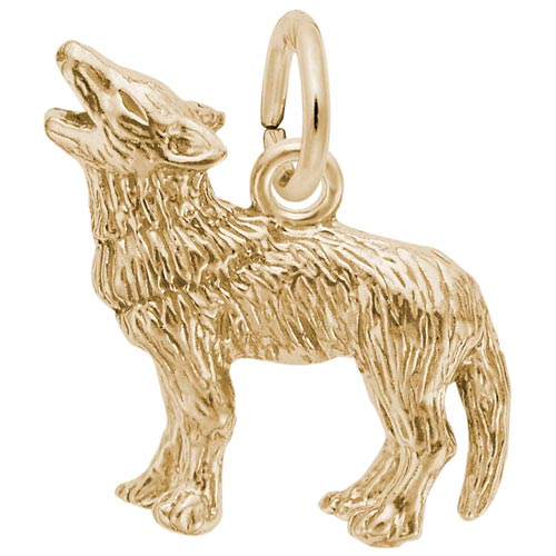 14K Gold Wolf Charm by Rembrandt Charms