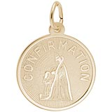 Gold Plate Confirmation Girl Charm by Rembrandt Charms