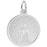 Sterling Silver Confirmation Girl Charm by Rembrandt Charms