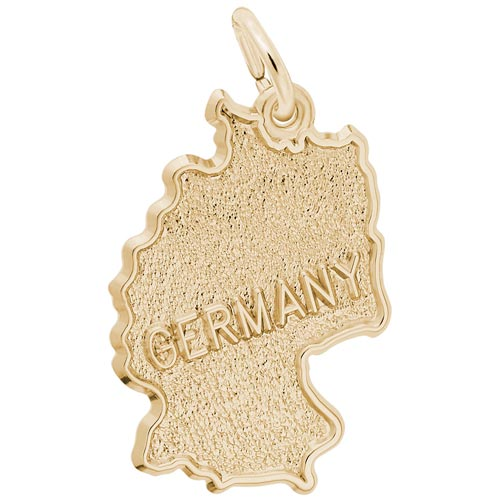 10K Gold Germany Map Charm by Rembrandt Charms