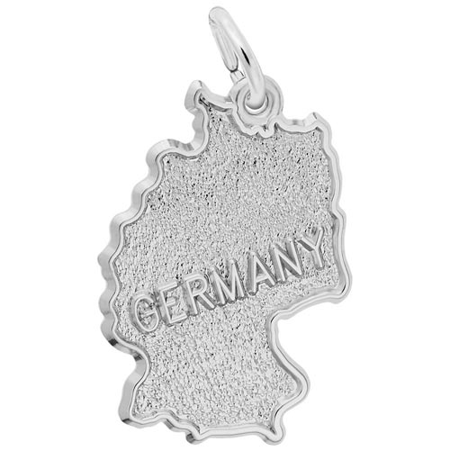 Sterling Silver Germany Map Charm by Rembrandt Charms