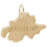 Gold Plated Switzerland Map Charm by Rembrandt Charms
