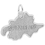 14K White Gold Switzerland Map Charm by Rembrandt Charms