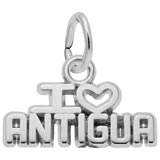 14K White Gold I Love Antigua Charm by Rembrandt Charms