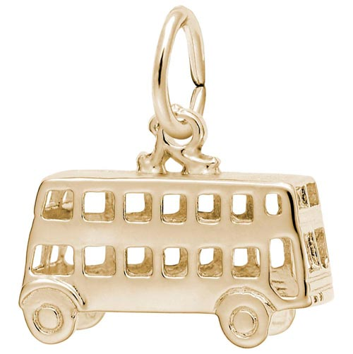 10K Gold Double Decker Bus Charm by Rembrandt Charms