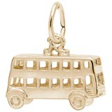 Gold Plated Double Decker Bus Charm by Rembrandt Charms