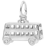 14K White Gold Double Decker Bus Charm by Rembrandt Charms