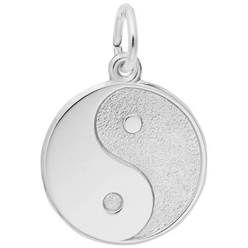 14K White Gold Yin Yang Charm by Rembrandt Charms