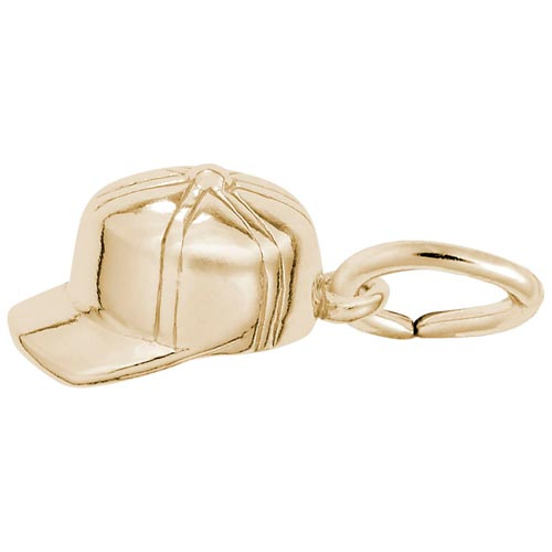 14K Gold Baseball Hat Accent Charm by Rembrandt Charms