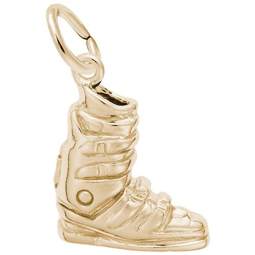 14K Gold Ski Boot Charm by Rembrandt Charms