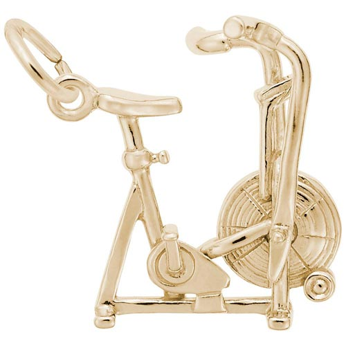 14K Gold Exercise Bike Charm by Rembrandt Charms