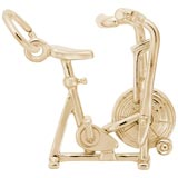 Gold Plated Exercise Bike Charm by Rembrandt Charms