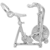 14K White Gold Exercise Bike Charm by Rembrandt Charms