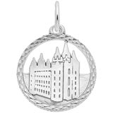 Sterling Silver Mormon Temple Disc Charm by Rembrandt Charms
