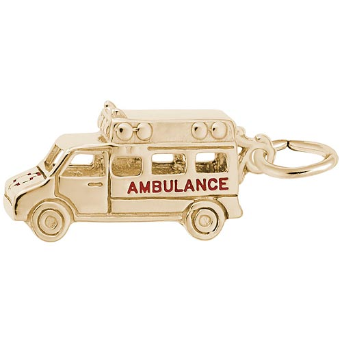 Gold Plated Ambulance Charm by Rembrandt Charms