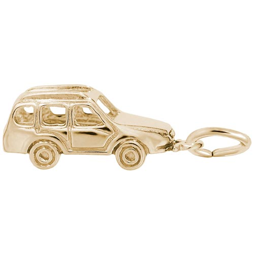 Gold Plated European Taxi Cab Charm by Rembrandt Charms