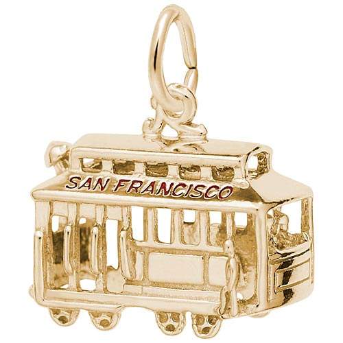 14k Gold San Francisco Cable Car by Rembrandt Charms