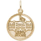 14K Gold White House Faceted Charm by Rembrandt Charms