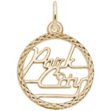 14K Gold Park City Utah Faceted Charm by Rembrandt Charms