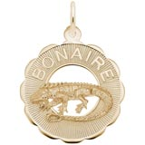 10K Gold Bonaire, Iguana Charm by Rembrandt Charms