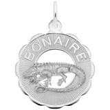 14K White Gold Bonaire, Iguana Charm by Rembrandt Charms