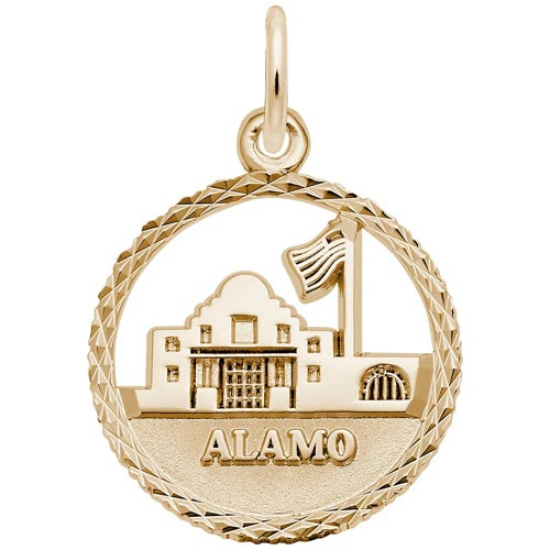 14k Gold The Alamo Faceted Charm by Rembrandt Charms