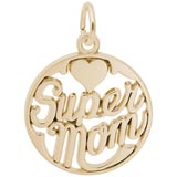 Gold Plated Super Mom Charm by Rembrandt Charms