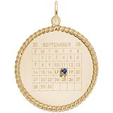 14k Gold Birthstone Calendar Disc Charm by Rembrandt Charms
