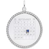 Sterling Silver Birthstone Calendar Disc Charm by Rembrandt Charms