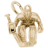Gold Plated Hockey Goalie Charm by Rembrandt Charms