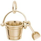Gold Plate Pail and Shovel Charm by Rembrandt Charms
