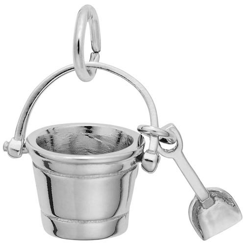 14K White Gold Pail and Shovel Charm by Rembrandt Charms