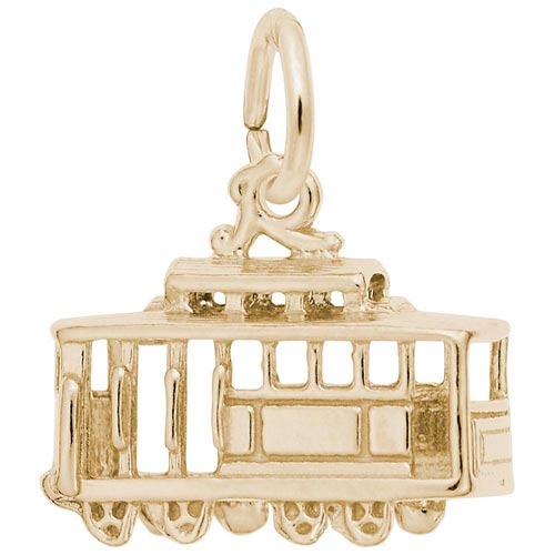 Gold Plated Cable Car Charm by Rembrandt Charms