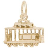 10K Gold Cable Car Charm by Rembrandt Charms