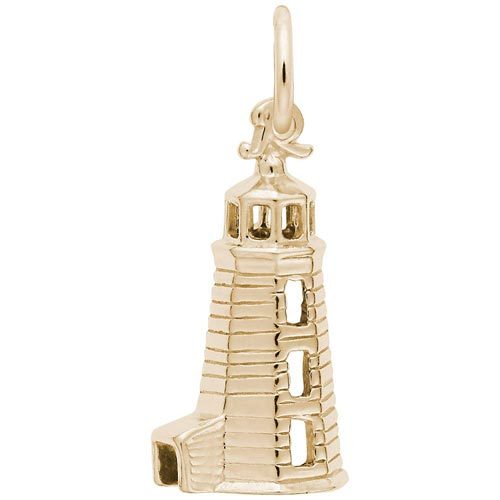 14K Gold Landfall Lighthouse Charm by Rembrandt Charms